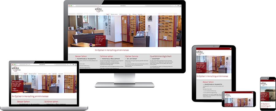 Beispiel für Responsive Webdesign